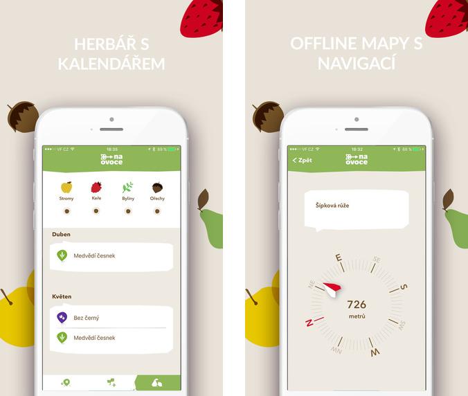 Mapovací aplikace Na ovoce